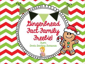 Gingerbread Fact Family Freebie!