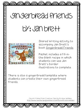 Gingerbread Friends Recipe