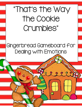 Gingerbread Game Board and Emotion Situation Cards