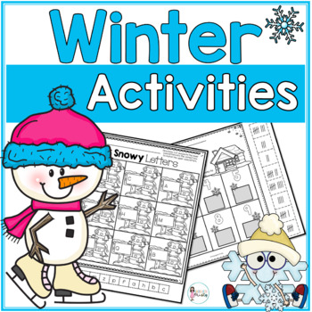 Winter Wonderland {Colorful Centers & BW Printables}