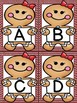 Gingerbread Girl  Alphabet Letter Flashcards Uppercase and