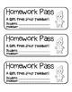 """Gingerbread Girl"" Homework Pass –Holiday FUN! (full color"
