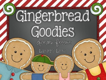 Gingerbread Goodies: Digraph FREEBIE