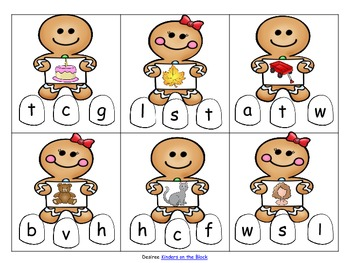 Gingerbread Holiday Beginning Sounds
