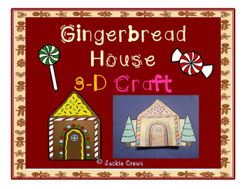 Gingerbread House 3-D Craft & Activities