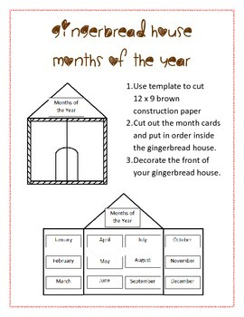 Gingerbread House Months of the Year