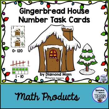 Gingerbread House Number Task Cards