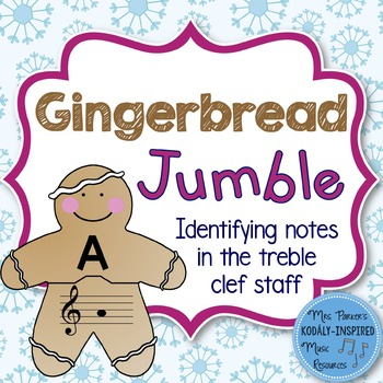 Gingerbread Jumble: Identifying the Notes of the Treble Cl