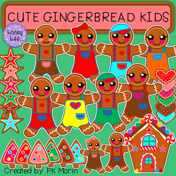 Gingerbread Kids Clip Art