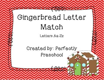 Gingerbread Letter Match