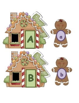 Gingerbread Letter Matching - Upper and Lowercase letter match
