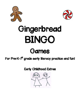 Gingerbread Man BINGO literacy game