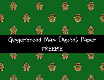 Gingerbread Man Background FREEBIE