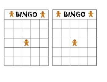 Gingerbread Man Bingo