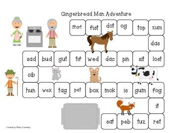 Gingerbread Man Blending Board Game