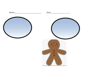 Gingerbread Man Bubble Map