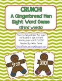 "Gingerbread Man ""CRUNCH!"" Sight Word Game {third grade words}"
