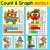 Graphing Shapes Math Centers Bundle for Easter, Spring, Su