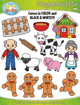 Gingerbread Man Fairy Tale Clip Art Set — Over 35 Graphics!