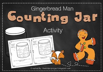 Gingerbread Man Counting Jar    ***Also in my Gingerbread