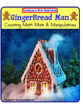 Gingerbread Man Counting Up to 30 and Manipulatives {Kinde