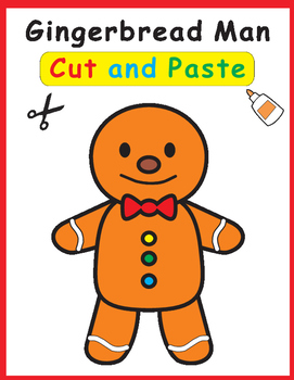 Gingerbread Man Cut and Paste Craft