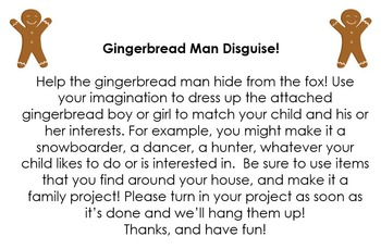 Gingerbread Man Disguise