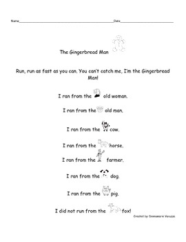 Gingerbread Man Early Childhood Literacy