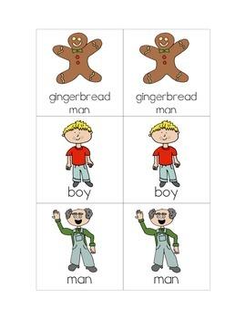 Gingerbread Man Matching Game