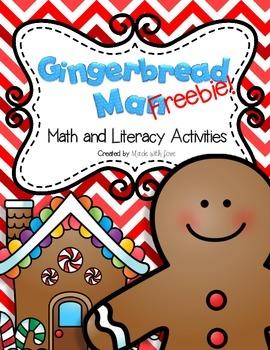 Gingerbread Man Math and Literacy Activities Freebie