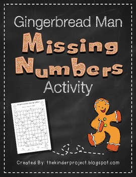 Gingerbread Man Missing Numbers    ***Also in my Gingerbre