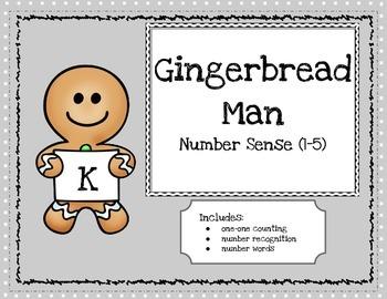 Gingerbread Man Number Sense Book