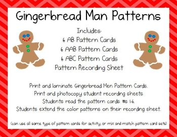 Gingerbread Man Patterns