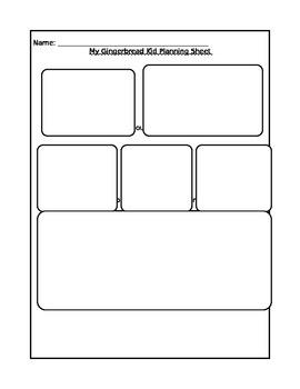 Gingerbread Man Planning Sheet