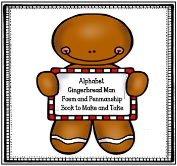 Gingerbread Man Poem, Alphabet and Writing Book to Practic