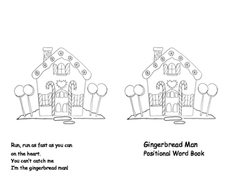 Gingerbread Man Positional Words Book