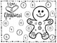 Gingerbread Man Roll, Add & Color Printables (3 different