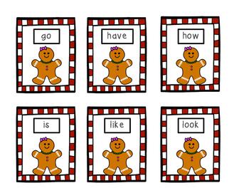 Gingerbread Man Site Words