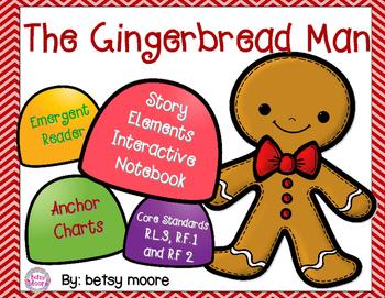 Gingerbread Man Story Elements Interactive Notebook, Emerg