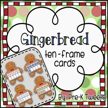 Gingerbread Man Ten Frame Cards