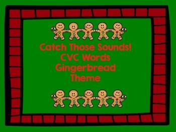Gingerbread Man Themed CVC Word Activities