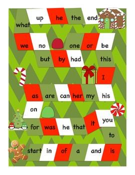 Gingerbread Man Winter Math and Language FUN Games and Act