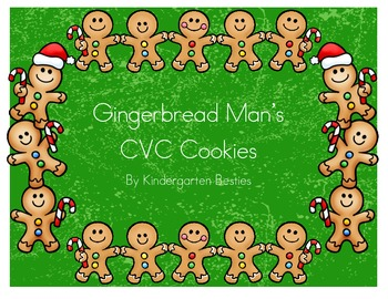 Gingerbread Man's CVC cookies