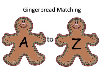 Gingerbread Matching A-Z