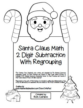 """""""Gingerbread Math"""" 2 Digit Subtraction With Regrouping Com"""