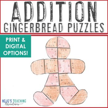 Gingerbread Math Centers: Addition Puzzles