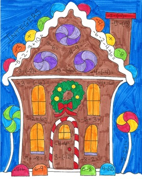 Gingerbread Math Coloring Page