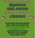 Gingerbread Math Journals