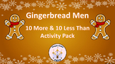 Gingerbread Men 10 More 10 Less Than Activity Pack