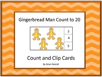 Gingerbread Man Math Activities Counting to 20 Count and C